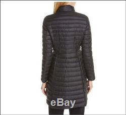 1.4k New Moncler Agatelon Zip-Front Quilted Long Puffer Coat Black Sz 5 US 10-12