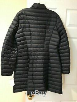 1.4k New Moncler Agatelon Zip-Front Quilted Long Puffer Coat Black Sz 5 US 10-12