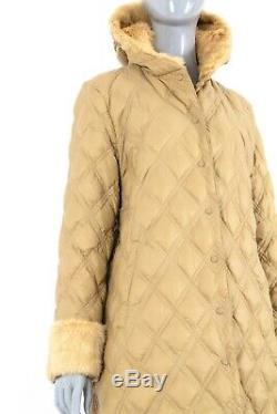 1390$ Moncler Quilted Real Fur Long Womens Down Jacket Puffer Parka Coat 3/ml