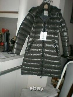 $1395 NWT Authentic Moncler Moca Long Down Puffer Coat Sz 2 OLIVE GREEN WOMAN