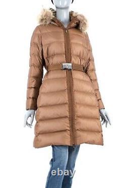 1950$ Moncler Nantes Fur Real Long Womens Down Jacket Puffer Coat 3/ml Certilogo