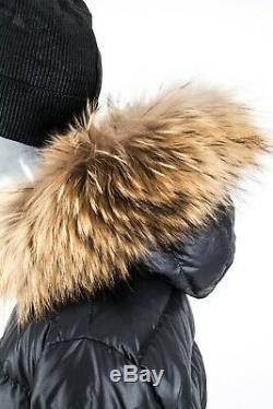 1950$ Moncler Nantes Fur Real Long Womens Down Jacket Puffer Coat Certilogo 6/xl