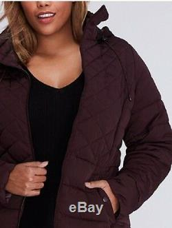 $200 Lane Bryant Quilted Maxi Puffer Long Winter Coat Jacket Plus Size 18/20 2X