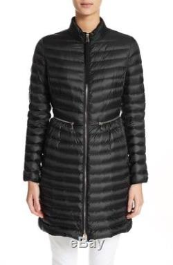 2018 Moncler Agatelon Quilted Puffer Coat Black XS 00 NWT New Authentic Long