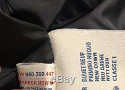 $2460 Moncler Senega Giubbotto Long Down Hood Quilted Puffer Jacket Coat Size 7