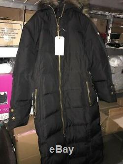 $340 NEW Calvin Klein size PXX Coat Long with Knit Trim Retail #563