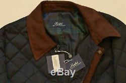 $395 Polo Ralph Lauren Men's Water Repellent Quilted Jacket Raincoat Car Coat