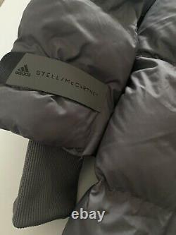 ADIDAS BY STELLA McCARTNEY HOODED LONG PUFFER PADDED COAT JACKET GREY FU1156 S