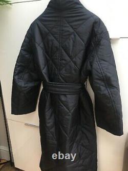 ARKET LONG OVERSIZED QUILTED COAT BLACK SIZE M BNWT DESIGNER Toteme Vibe