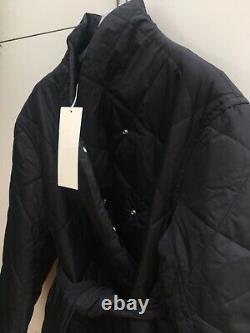 ARKET LONG OVERSIZED QUILTED COAT BLACK SIZE S UK 8/10 BNWT DESIGNER Toteme Vibe