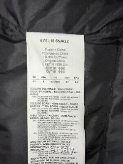 ARMANI Jeans Ladies Long BLACK Down & Feather QUILTED COAT Size 12 -GORGEOUS