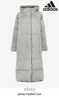 Adidas Essential Puffer Real Down Padded Longline Coat Ladies Size 12-14