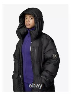 Adidas by Stella McCartney Long Padded Puffer Jacket, Black L