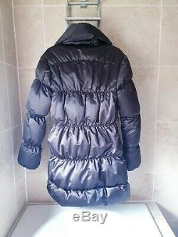 AllSaints Warm Down Puffer Coat Size Xs (uk6) Black Italian Cloth £280 Free P&P