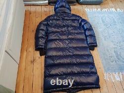 Aritzia TNA Super Puff Long Shiny Blue Down Puffer Jacket Coat Size M
