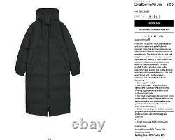 Arket Down Coat Long Puffer Recycled Nylon (ReDown) Blogger Favourite