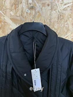 Arket Navy Long Oversized Quilted Belted Coat Size XS, Lot Cage