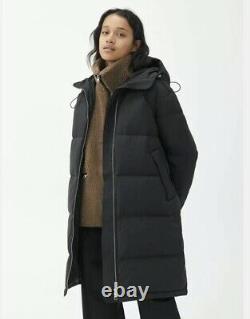 Arket Puffer Coat Size Large Black Re Down