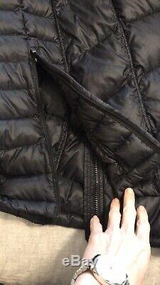Athleta Outer Warmth Down Long Jacket Puffer Coat BLACK