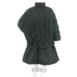 Auth MONCLER Long Down Coat Nita Frill Black Size 3 WOMEN 90061083