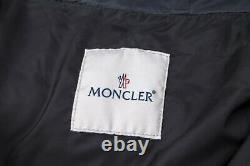 Auth Moncler Nantes Gray Womens Long Down Hooded Puffer Jacket Coat 4/l