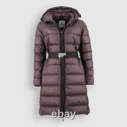 Auth Moncler Nantesfur Brown Womens Long Down Hooded Puffer Jacket Coat 3/ml