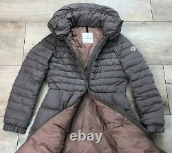 Auth Women's MONCLER DURACE Powdery Long Down Puffer Jacket Size 2 M/L RRP $1870