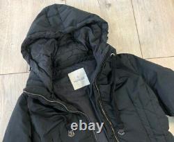 Auth Women's MONCLER NIM Black Down Puffer Long Jacket Coat Size 3 M/L