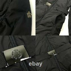 Auth Women's MONCLER VALENCE Black Down Puffer Casual Coat Size 1 S/M