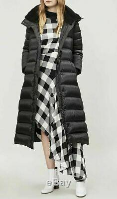 Authentic BURBERRY Down Filled puffer Long Coat black size M