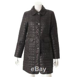 Authentic Kate Spade Quilting Long Coat Black Grade Ab Used At