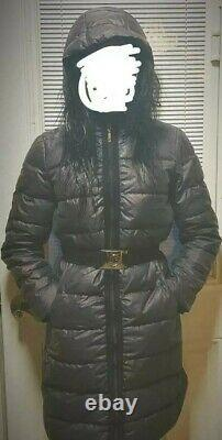 Authentic Moncler Black Hooded Down Coat size S