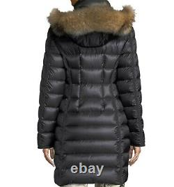 Authentic Moncler Hermifur Fitted Puffer Coat jacket with Removable Fur Hood