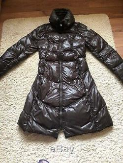 Authentic Moncler Padded Jacket/coat Long Black Size 2/Uk 10