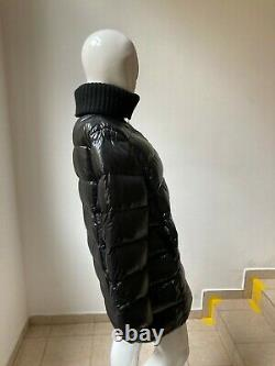 Authentic Oversized Moncler Womens Mid Long Puffer Coat Jacket Size 4 Around XL