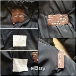 Authentic Vintage Moncler quilted down jacket puffer long coat Black Women Sz 2