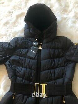BARBOUR International Lineout Long Black Coat. Sz 12. BNWT. SOLD OUT
