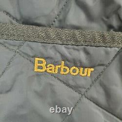 BARBOUR LIDDESDALE Medium Mens Made in England Brown Snap Quilted Jacket Coat