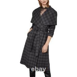 BCBGMAXAZRIA Womens Bailey Gray Wool Blend Long Maxi Coat Outerwear S BHFO 2644
