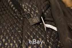 BN RUDSACK long line leather coat in a size 4 size small raccoon fur SIZE 8