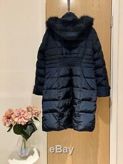 BNWOT Ladies Long Michael Kors Navy Puffa Jacket Winter Coat Size L (approx 16)