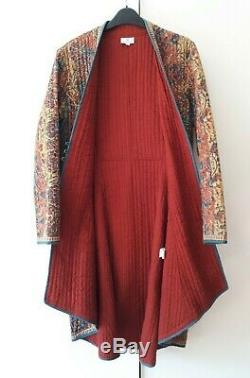 BNWOT stunning Anokhi kantha quilted jacket coat floral cotton boho Indian 14 16