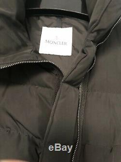 BNWT Authentic Moncler Lobelia Bell Sleeve Long Puffer Down Jacket BLK Sz 00 XS