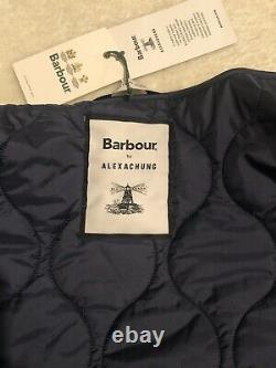 BNWT Barbour Alexa Chung Martha Long Quilted Coat Jacket Blue Size 12 RRP £249