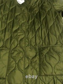 BNWT Barbour Alexa Chung Martha Long Quilted Coat Jacket Green Size 10 RRP £249