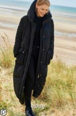 BNWT Emma Willis/Next Long Padded Puffa Coat Black Size 10 Petite SOLD OUT