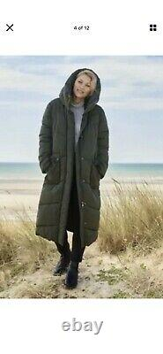 BNWT Next Emma Willis Khaki Green Long Padded Duvet Coat Size UK 12 Regular
