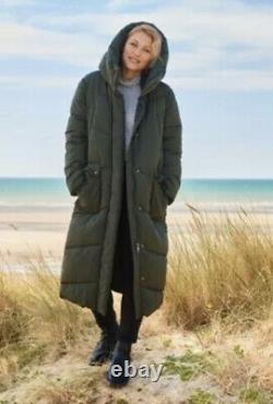 BNWT Next Emma Willis Long Khaki Green Duvet Coat Size 12 Regular