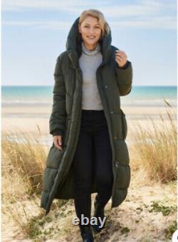 BNWT Next Emma Willis Long Padded Khaki Duvet Coat Size 12 SOLD OUT