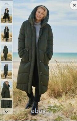 BNWT Next Emma Willis Long Padded Khaki Puffer Coat Size 12 SOLD OUT